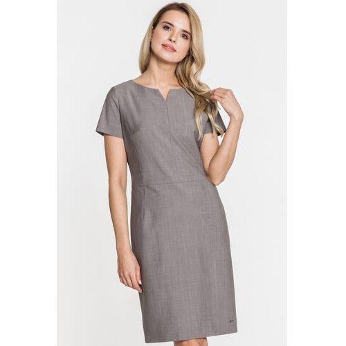 Grafitowa sukienka - Sobora, 1 rozmiar