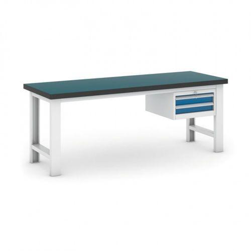 Stół warsztatowy GB z kontenerkiem, 2100 mm, 2x szuflady