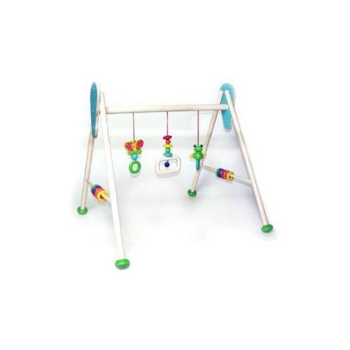 HESS Drewniany pałąk z zabawkami Żabka Toni (4016977133722)
