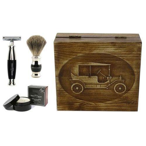 Edwin jagger Samochód retro, czarny, 4-el zestaw do golenia w drewnianym pudełku