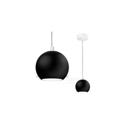 LAMPA wisząca MYOO 1/S/BLACK MATTE/OPAL Sotto Luce metalowa OPRAWA szklana ZWIS kula czarna matowa, MYOO 1/S/BLACK MATTE/OPAL