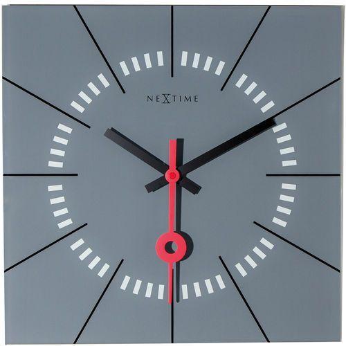 Zegar ścienny Nextime Stazione 35 x 35 cm, szary (8636 GS), kolor szary