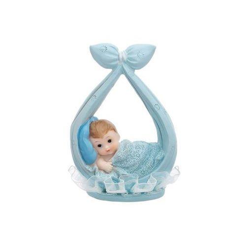 Figurka dziecko w błękitnej chusteczce - 11 cm (5901157428196)
