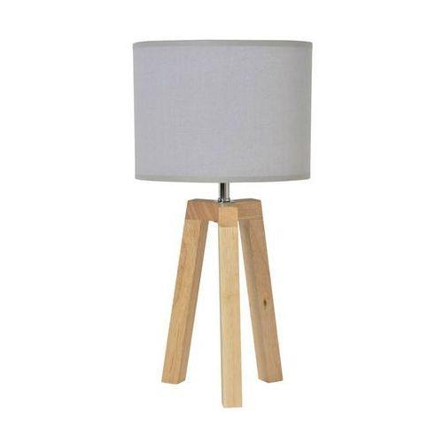Corep Stockholm-lampa stojąca statyw drewno naturalne & len wys.40cm (3188000743244)