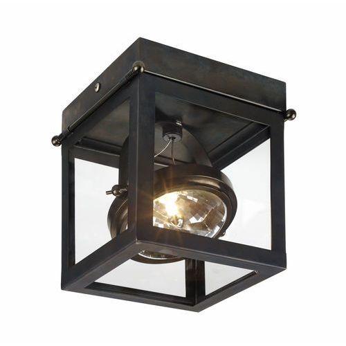 Kaspa Spot lampa sufitowa geo 1 70171106 natynkowa oprawa stropowa nowoczesna regulowana halogen brązowa