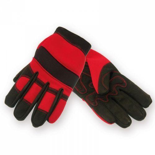 Rękawice ochronne bh1001l plus hand czarno-czerwony (rozmiar l) marki Dedra