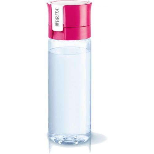Brita fill&go vital butelka filtrująca różowa 0,6l + brita fill&go microdisc wymieny filtr 1 sztuka