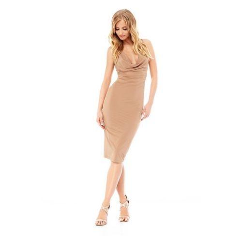 Sukienka Savannah w kolorze nude - OKAZJE