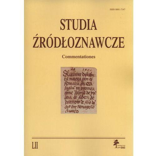 Studia źródłoznawcze LII
