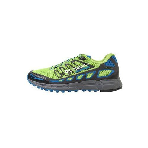 Columbia BAJADA III Obuwie do biegania Szlak bright green/blue magic, kolor zielony