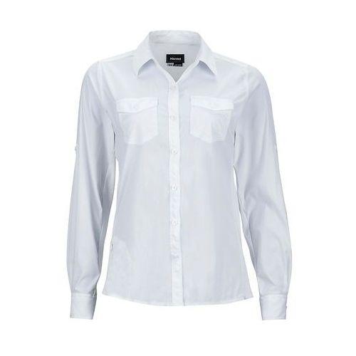Koszula MARMOT ANNIKA LS WOMEN - white, kolor biały