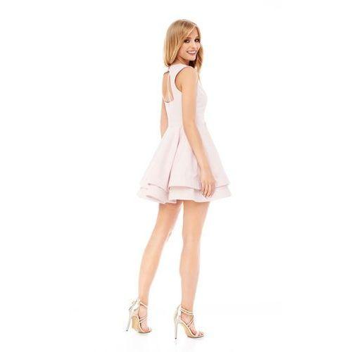 Sugarfree Sukienka peonia w kolorze jasnoróżowym