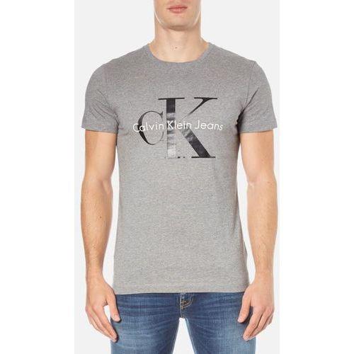 Calvin klein  men's re-issue crew neck t-shirt - mid grey heather - m