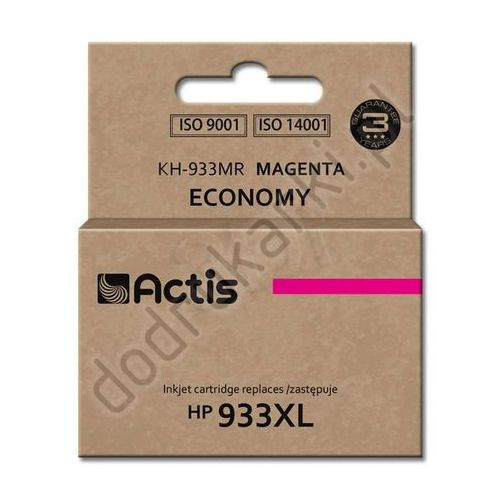 Hp 933xl zamiennik cn055ae tusz magenta do hp officejet 6100 6600 6700 7110 7610 7612 - 13ml, marki Actis