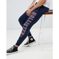 large iconic logo cuffed jogger in navy - navy, Hollister, XS-M
