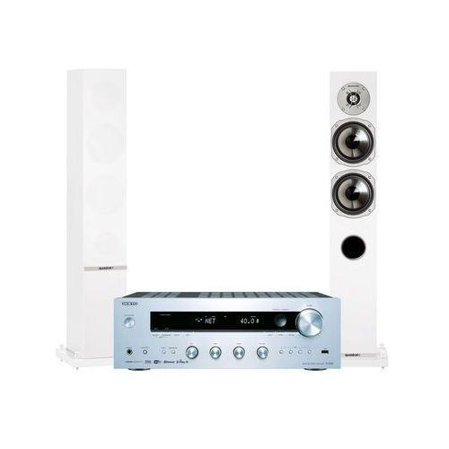 Onkyo Zestaw stereo tx-8250s + quadral rhodium 500 biały + darmowy transport!