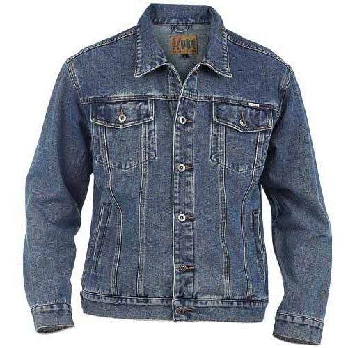 Kurtka jeansowa niebieska Duke London Trucker, kolor niebieski