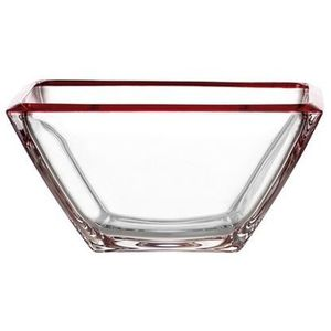 Miska szklana corner 23 cm czerwona marki Leonardo