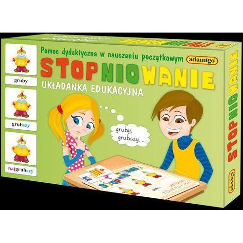 """Gra """"stopniowanie - układanka edukacyjna"""" + zakładka do książki gratis marki Adamigo"""