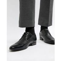 New look faux leather brogue with embossed detail in black - black