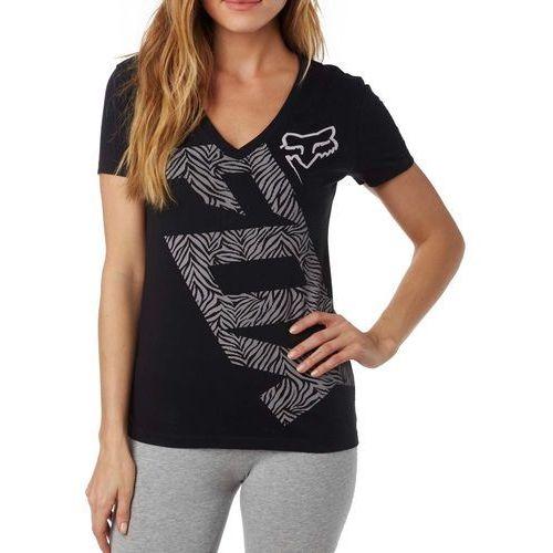 FOX T-shirt damski Angled V Neck Ss Tee XS czarny