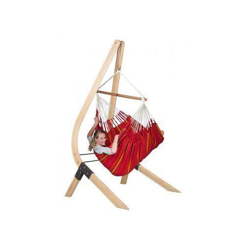 Zestaw hamakowy: leżak hamakowy Currambera ze stojakiem Vela, Czerwony CUL21VEA16