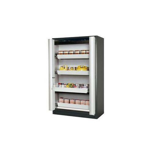 Szafa z drzwiami harmonijkowymi q-phoenix-90,z 4 szufladami marki Asecos