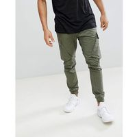 River Island Tapered Fit Cargo Trouser In Khaki - Green
