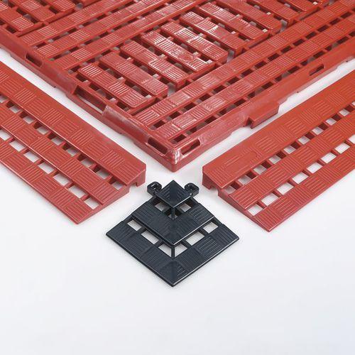 Coba plastics Element narożny, dł. x szer. 112x112 mm, opak. 4 szt., czarna. umożliwiają bezpr