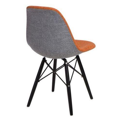 D2.design Krzesło p016w duo inspirowane dsw black - pomarańczowy ||szary