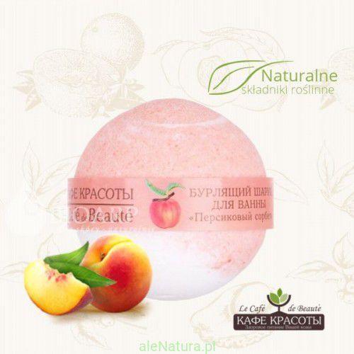 musująca kula do kąpieli - sorbet brzoskwiniowy 120g marki Le cafe de beaute