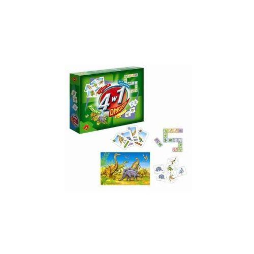 4 w 1. dinozaury. zestaw 3 gier + puzzle marki Alexander