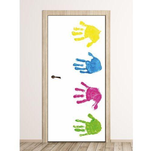 Wally - piękno dekoracji Fototapeta naklejka na drzwi graffiti kolorowe dłonie fp 6323