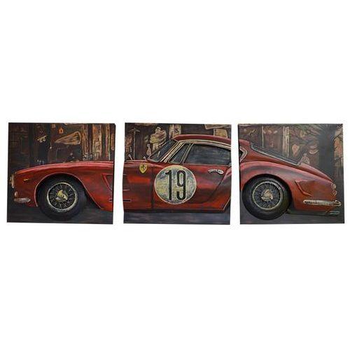 Obraz 3d ferrari 3-częściowy tryptyk marki King home