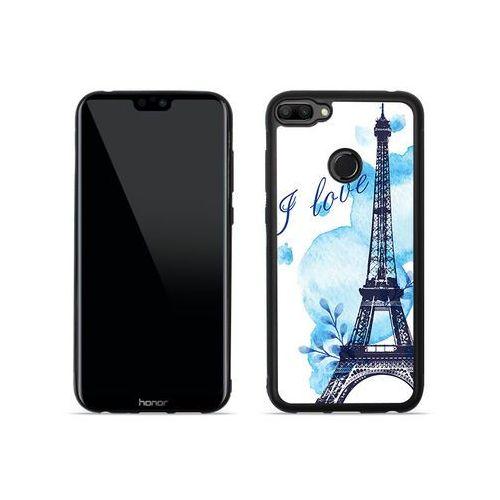 Huawei honor 10 lite - etui na telefon aluminum fantastic - niebieska wieża eiffla marki Etuo aluminum fantastic