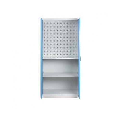 Szafa warsztatowa z perforowaną ścianką tylną, 2 półki marki Kovos