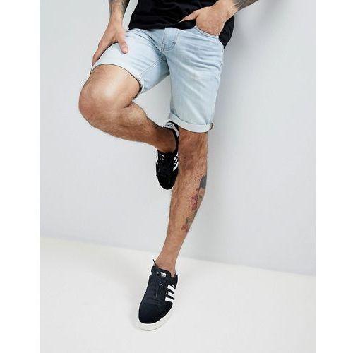 Threadbare basic denim turn up shorts - blue