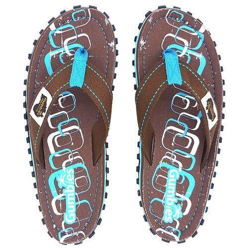 Klapki islander canvas flip - flops women - spangle, Gumbies