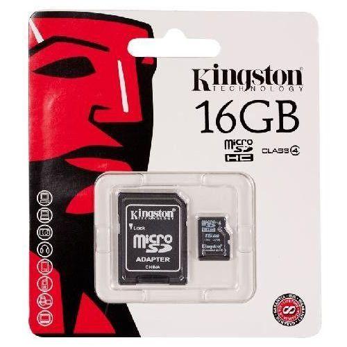 Kingston microSDHC 16GB class4 + adapter, 1_146745