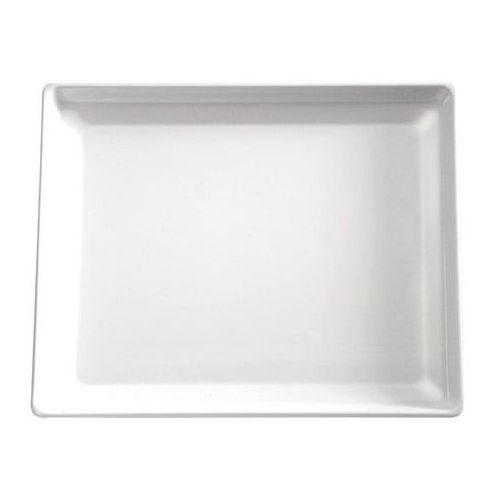 Taca prostokątna z melaminy | biała | różne wymiary