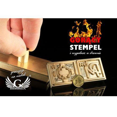 Grawernia.pl - grawerowanie i wycinanie laserem Stempel do wyciskania logotypu na gorąco i zimno - wymiary matrycy: 72x31mm - cnc