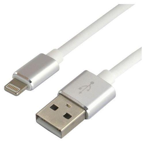 Everactive Kabel przewód silikonowy usb - apple lightning cbs-1.5iw 1.5m z obsługą szybkiego ładowania do 2.4a biały