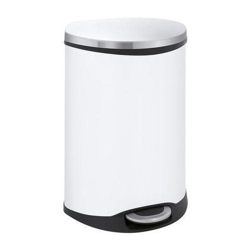 Efektowny pojemnik na odpady, korpus blacha stalowa, lakierowana na biało, pojem