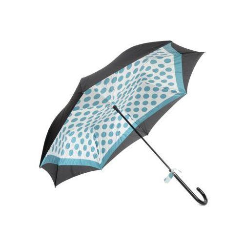 Parasol długi czarny+niebieski