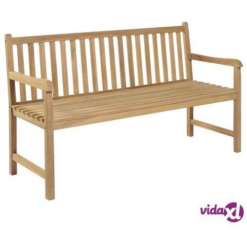 vidaXL Ławka ogrodowa, drewno tekowe, 150 x 62,5 90 cm (8718475508021)