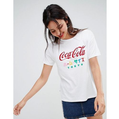 coca cola tee with japanese text - white, Stradivarius, 36-40