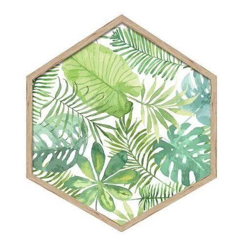 Obraz heksagonalny Liście 35 x 40 cm, 3540,003 LISCIE