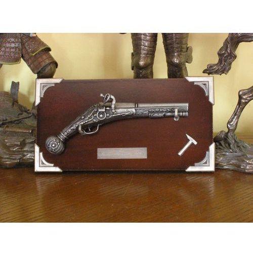 Hiszpania Miniaturka - francuski pistolet z 1590 r + zawieszka (k301)