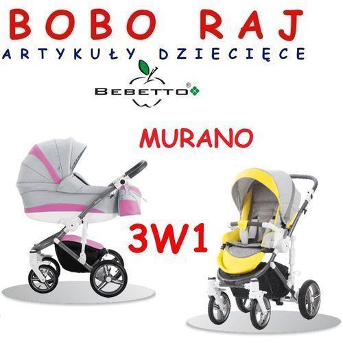Bebetto Wózek głęboko spacerowy firmy  model murano (3w1)