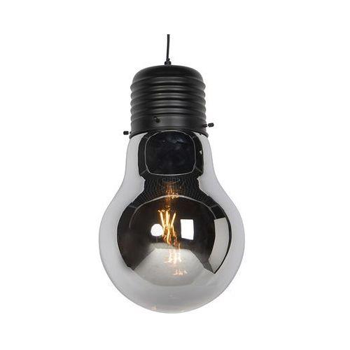 Honsel Designerska lampa wisząca czarna z szkłem dymnym - nigrum